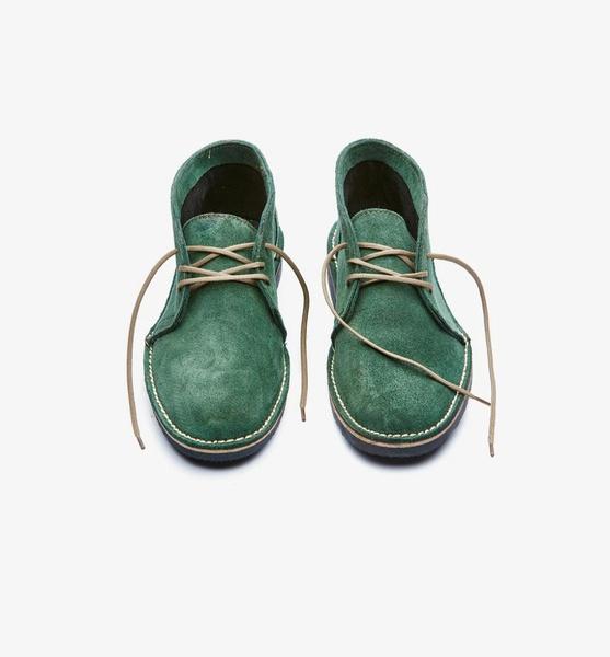 𝐓𝐡𝐞 𝐋𝐞𝐠𝐞𝐧𝐝 - suede high cut velskoen - fern green picture