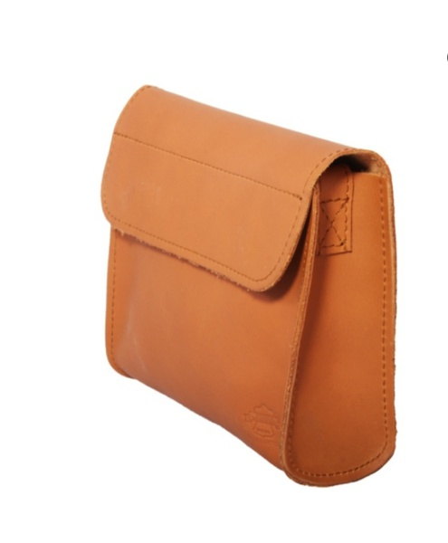 Proto leather bag with pattern edging - small picture