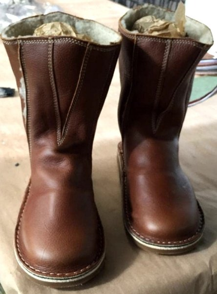 Ugg style leather boots - extra width picture