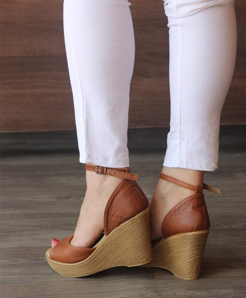 Jenna - open toe wedge shoes picture