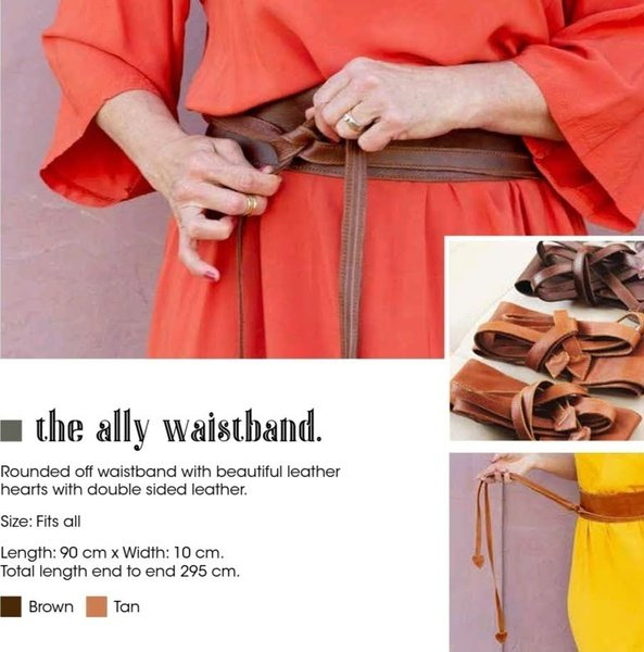 Ally leather waistband picture