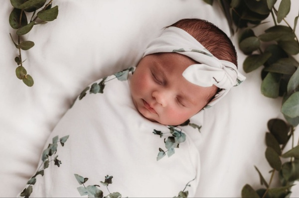 """Swaddle set """"eucalyptus"""" - 3 to 6 months picture"""
