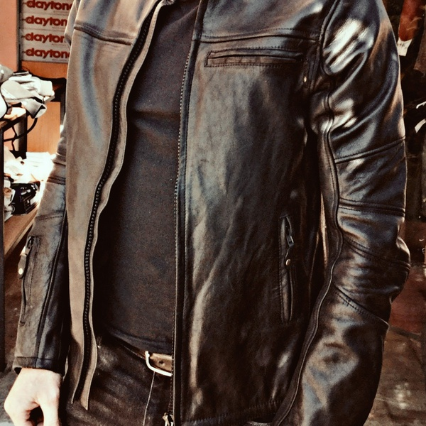 Men's leather keanu reeves inspired jacket picture