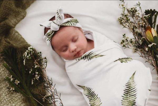 "Swaddle set ""fern"" - newborn picture"
