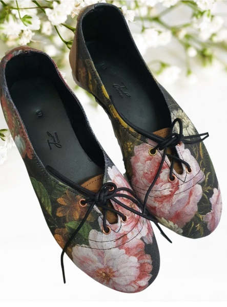 Mandy shoes in floral picture