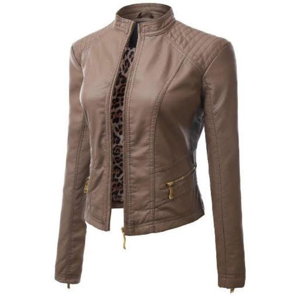 Ladies leather jacket - olivia picture