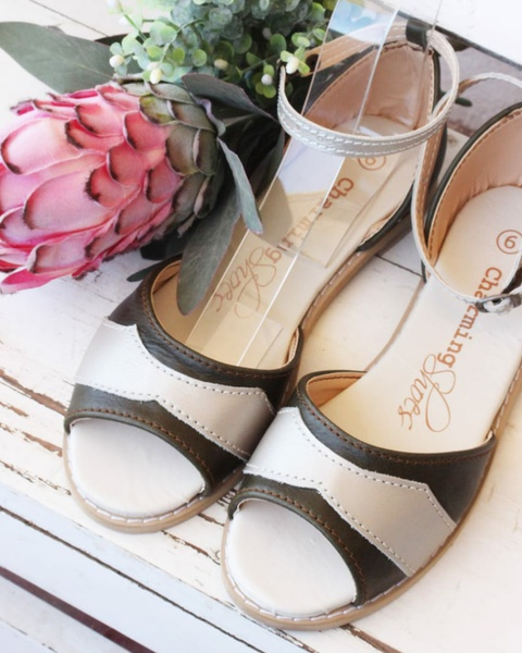 Fancy mia leather sandals picture