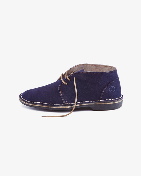 𝐓𝐡𝐞 𝐋𝐞𝐠𝐞𝐧𝐝 - high cut velskoen suede - navy blue picture