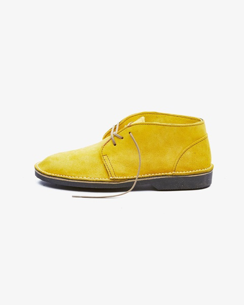 𝐓𝐡𝐞 𝐋𝐞𝐠𝐞𝐧𝐝 - suede high cut velskoen - yellow picture