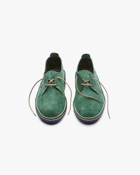 𝐓𝐡𝐞 𝐋𝐞𝐠𝐞𝐧𝐝 - suede low cut velskoen - green picture