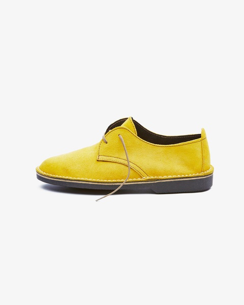 𝐓𝐡𝐞 𝐋𝐞𝐠𝐞𝐧𝐝 - suede low cut velskoen - yellow picture
