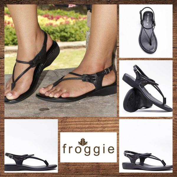Froggie 10732 black sandal picture