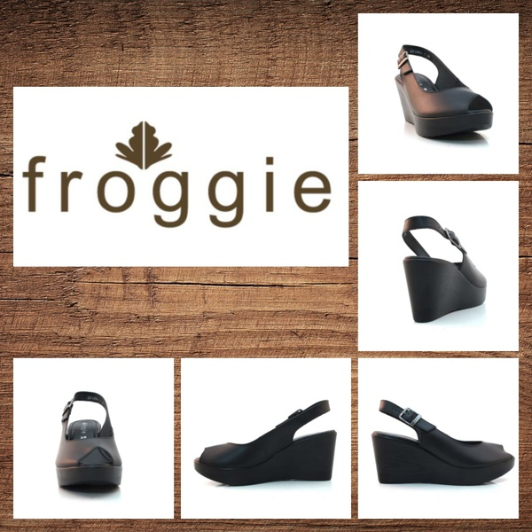 Froggie lea calf black wedge 11851 picture