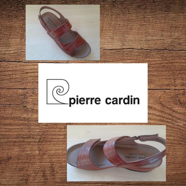 Pierre cardin 1257 tan velcro sandal picture