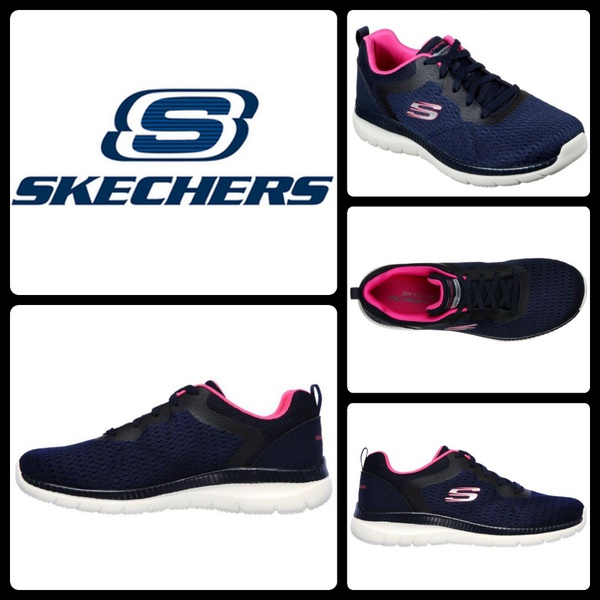 Skechers bountiful-quick path 12607 navy/pink picture