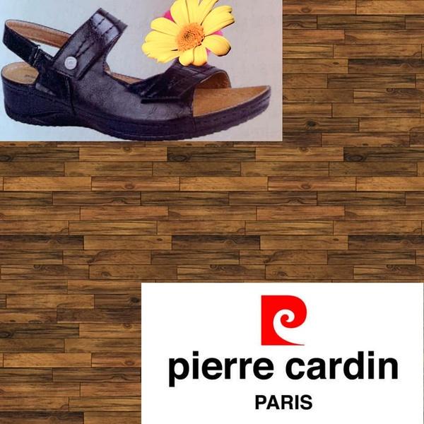 Pierre cardin 1257 black sandal picture