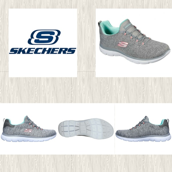 Skechers summits  quick get away 12983 gray/mint picture