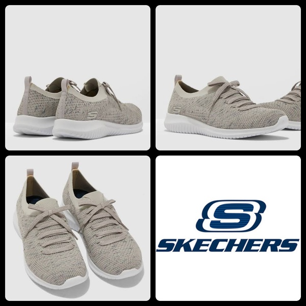 Skechers 13101 ultra flex - happy days natural/navy picture