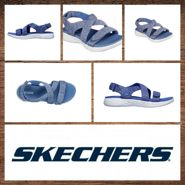 Skechers 140027 on the go 600 blue sandal picture