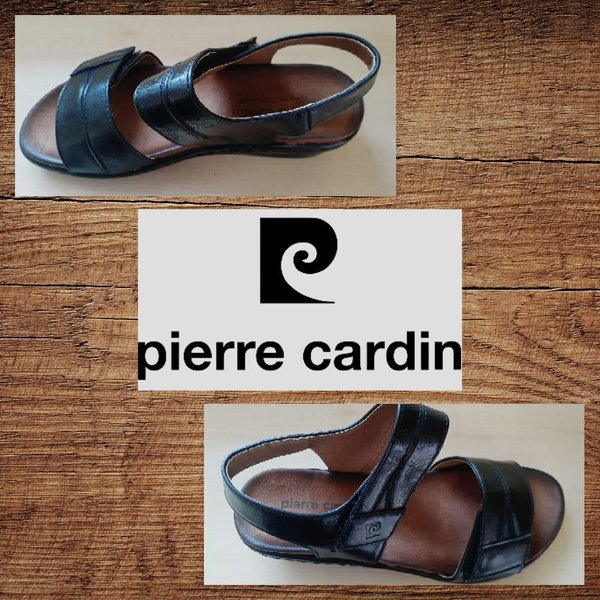 Pierre cardin 1548 black sandal picture