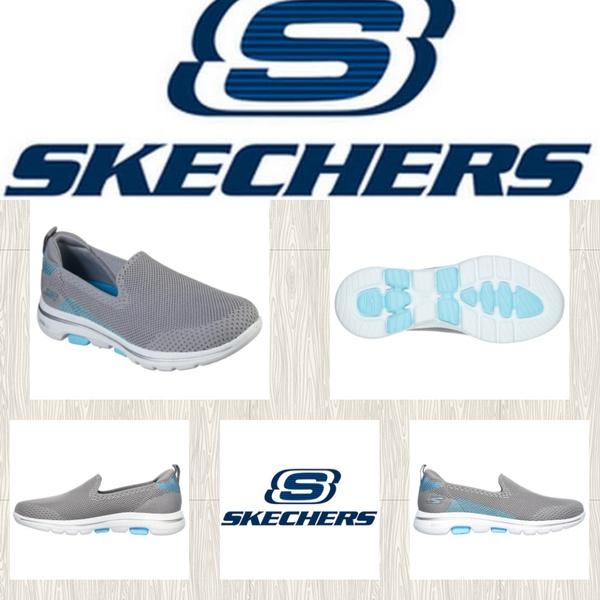 Skechers go walk 5 prizia gray/blue 15900 picture
