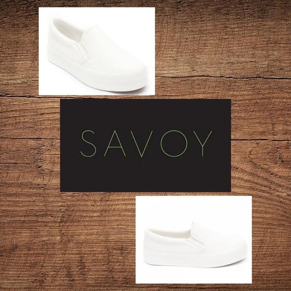 Savoy white slip on lchsh 01 picture