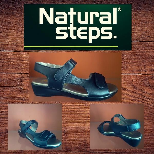 Natural steps 418 black velcro straps sandal picture