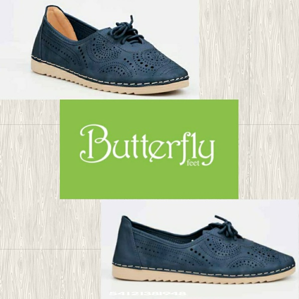 Butterfly feet annie navy picture