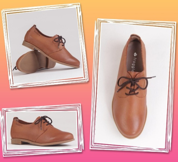 Froggie 12242 whiskey tan lace ups picture