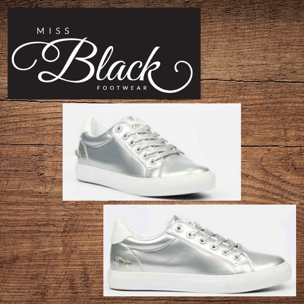 Miss black golden 3 silver sneaker picture