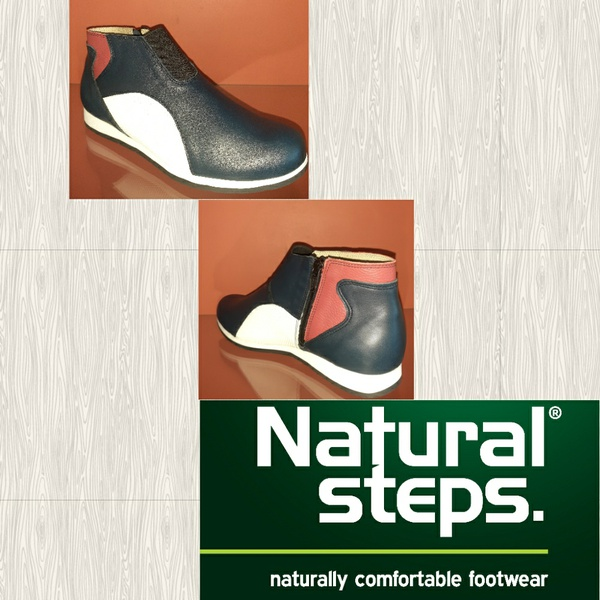 Natural steps z9010tt navy/red/white ankle boot picture