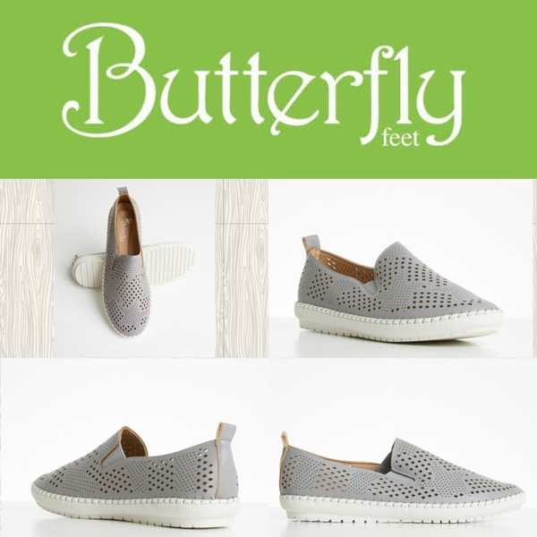 Butterfly feet berrie grey picture