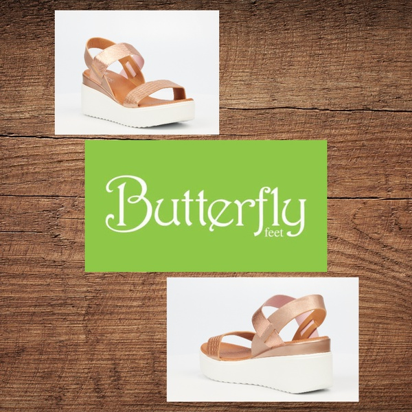 Butterfly feet cascada rose gold sandal picture