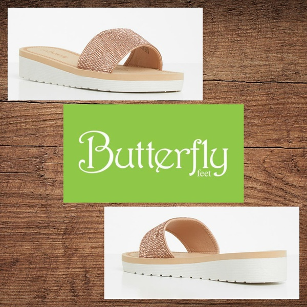 Butterfly feet corley rose gold sandal picture