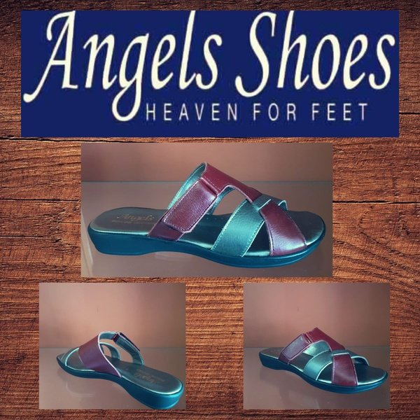 Angels mc 1710 ruby/red/pewter sandal picture