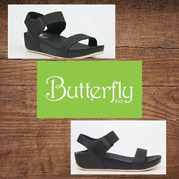 Butterfly feet delia 3 black sandal picture