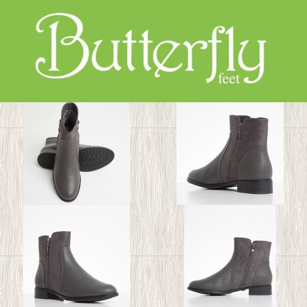 Butterfly feet eloise grey picture