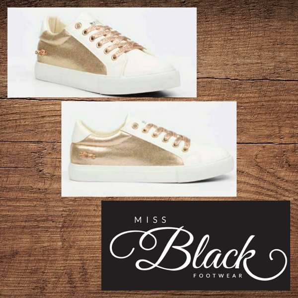 Miss black golden 2 gold sneaker picture