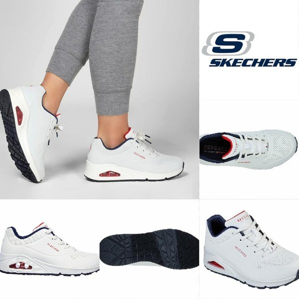 Skechers uno stand on air white 73690 picture