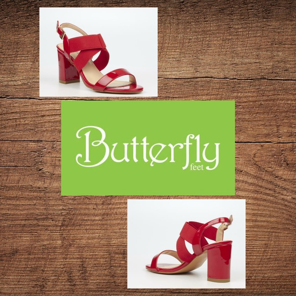 Butterfly feet valery  red picture