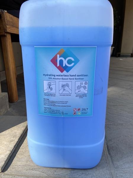 25l gel sanitizer picture
