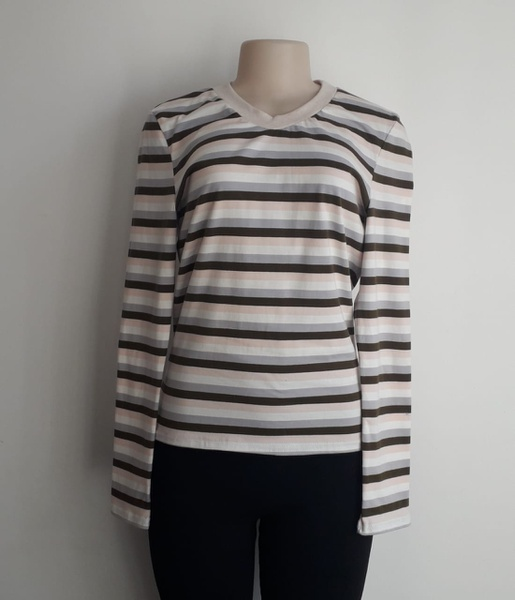Long sleeve striped ladies top picture