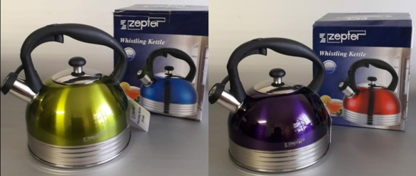 Stainless steel whistling kettle - 2.6l picture