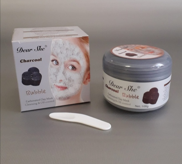 100g charcoal bubble carbonated clay mask picture