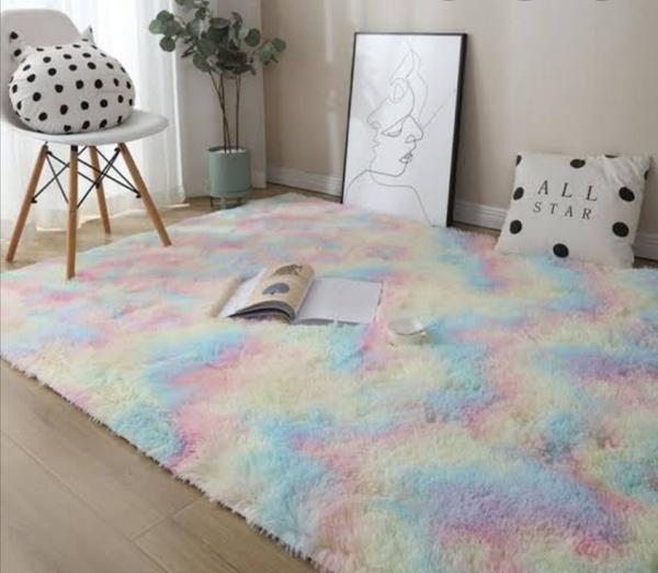 Unicorn fluffy carpet. 1.5m x 2m picture