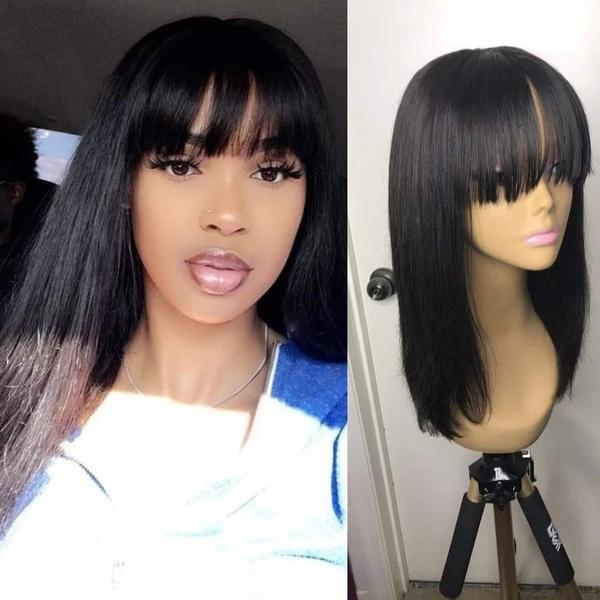 Brazilian straight fringe hair picture