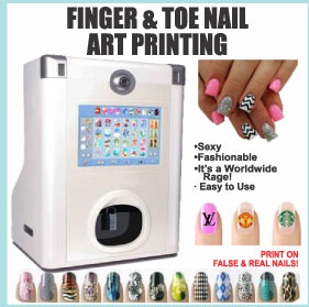 Finger & tue nail art printing picture