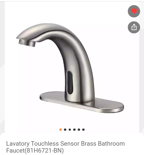 Auto sensor hands-free basin cold water tap.( on order) picture