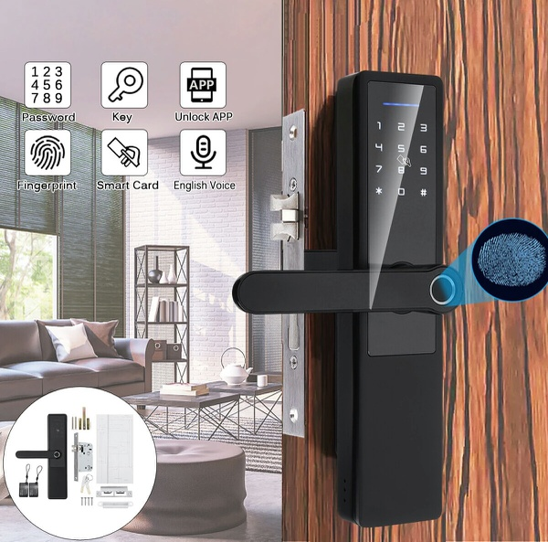 Smart keyless entry door lock ( includes installation) available on order. picture