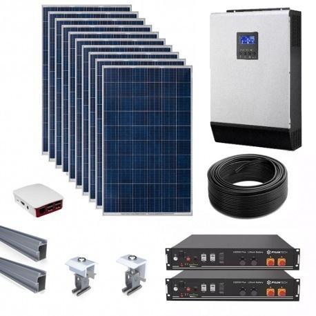 Inkwekwezi lithium ion solar kit - 5kw/4.8kwh storage/4.1kwp solar picture